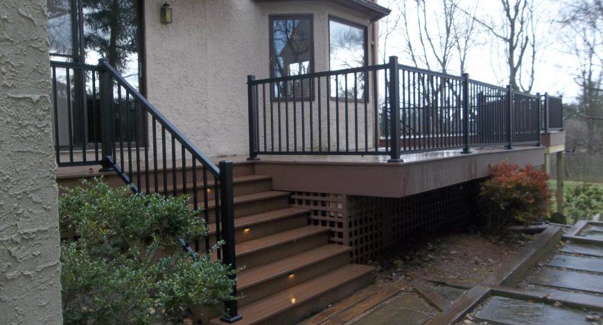 azek deck, pvc decking, vinyl deck railing, decks,deck step lights