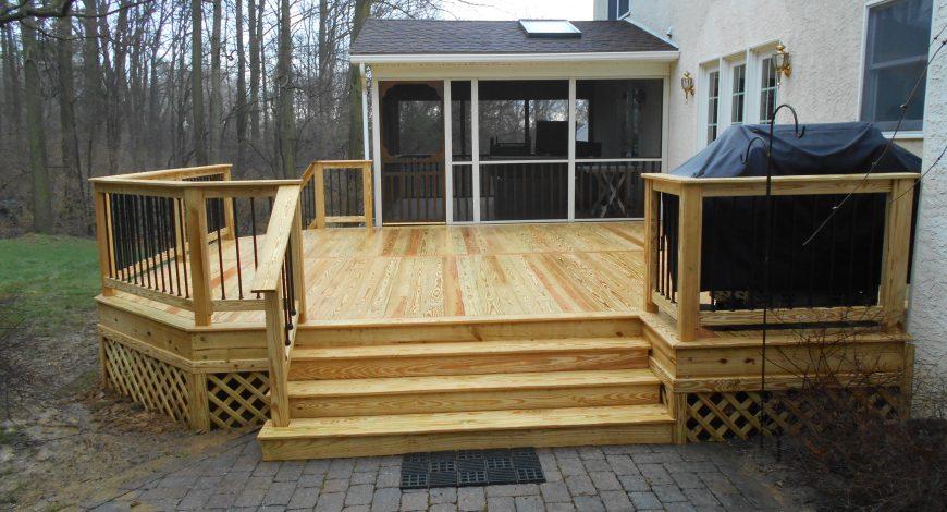 wood decks, decks, wood deck railings