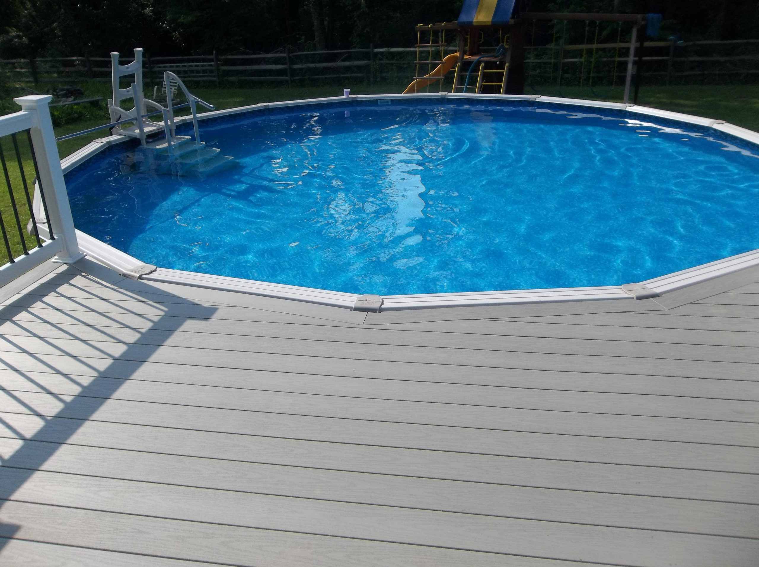 Above Ground Pool Deck Ingenuity With, Best Composite Decking For Above Ground Pool