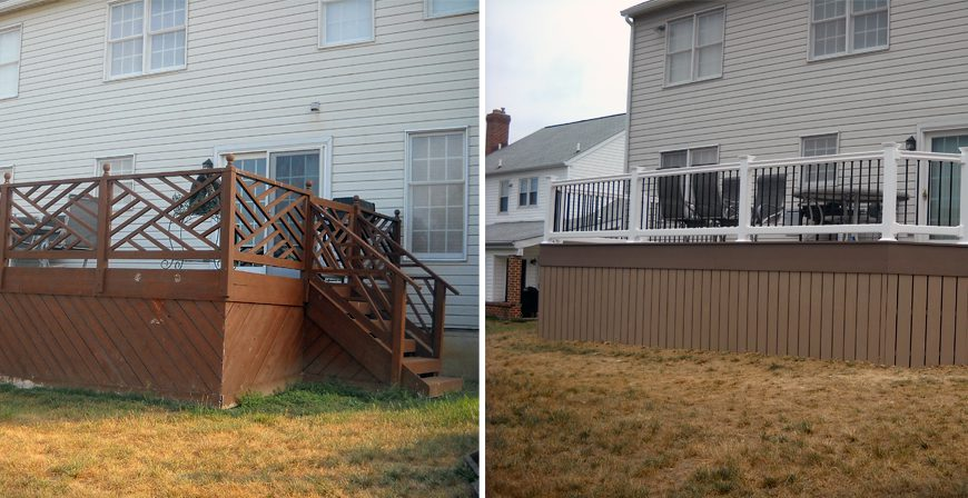 Before and After Deck Construction