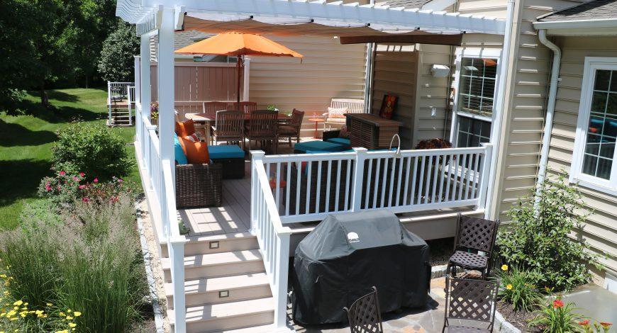 pergola, decks with pergolas, pergola with shade canopy, shade canopy for pergola