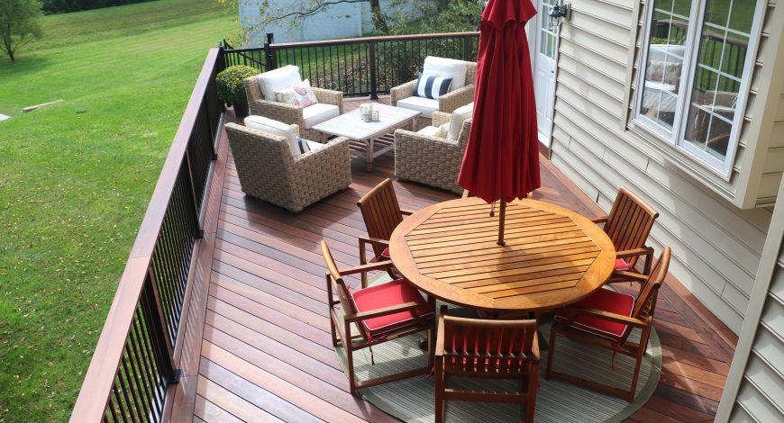 Mirrite decking, decks, deck railing, aluminum deck railing, wrought iron railing