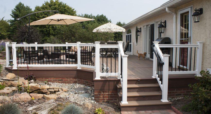 azek deck. decks. outdoor living, vinyl deck railing, composite decks